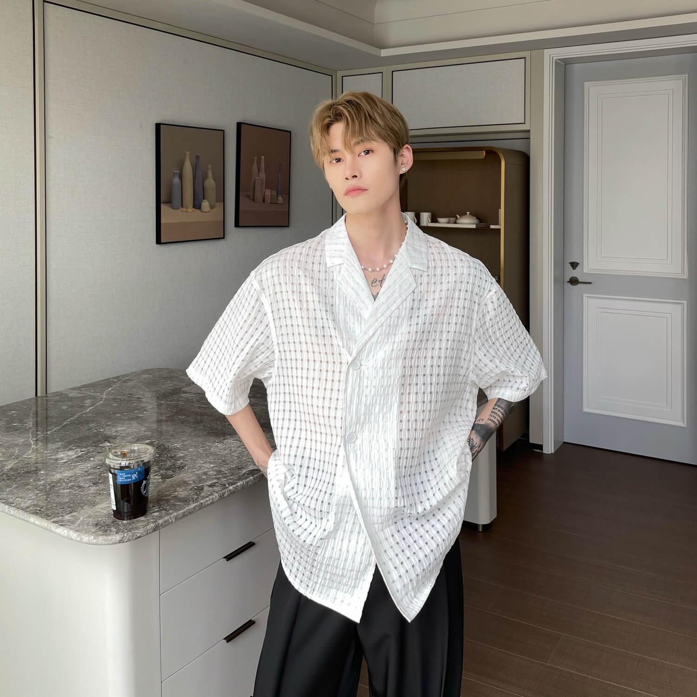 Рубашка Cui Layout Studio Lightweight Shirt Lattice Texture (7)