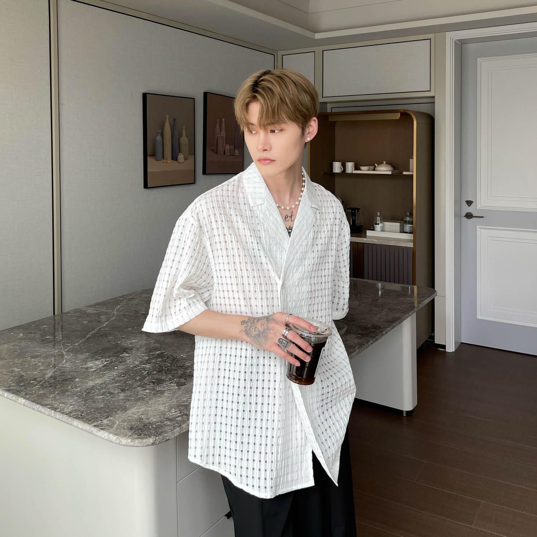 Рубашка Cui Layout Studio Lightweight Shirt Lattice Texture (8)