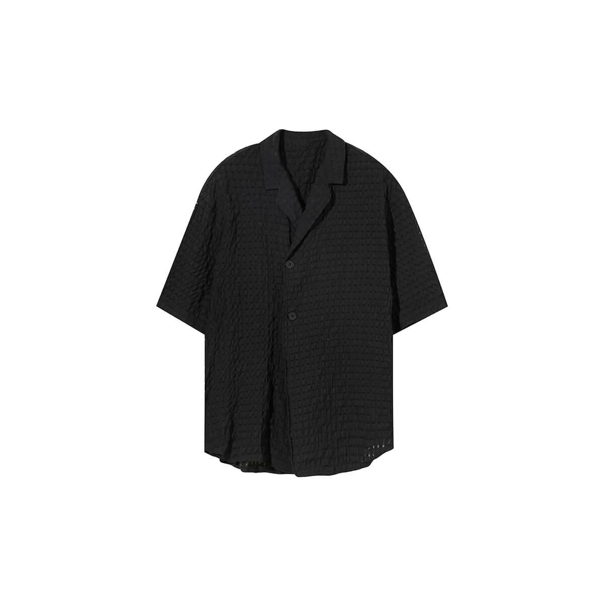 Рубашка Cui Layout Studio Lightweight Shirt Lattice Texture Black