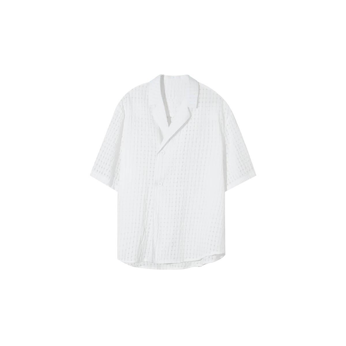 Рубашка Cui Layout Studio Lightweight Shirt Lattice Texture White