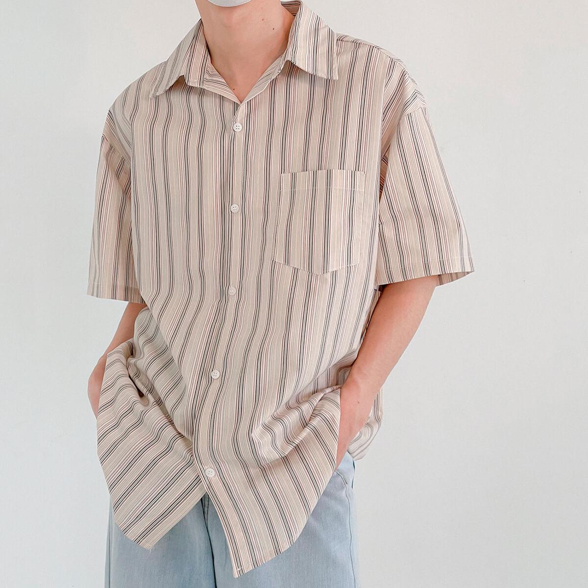 Рубашка DAZO Studio Retro Shirt Vertical Stripes (1)