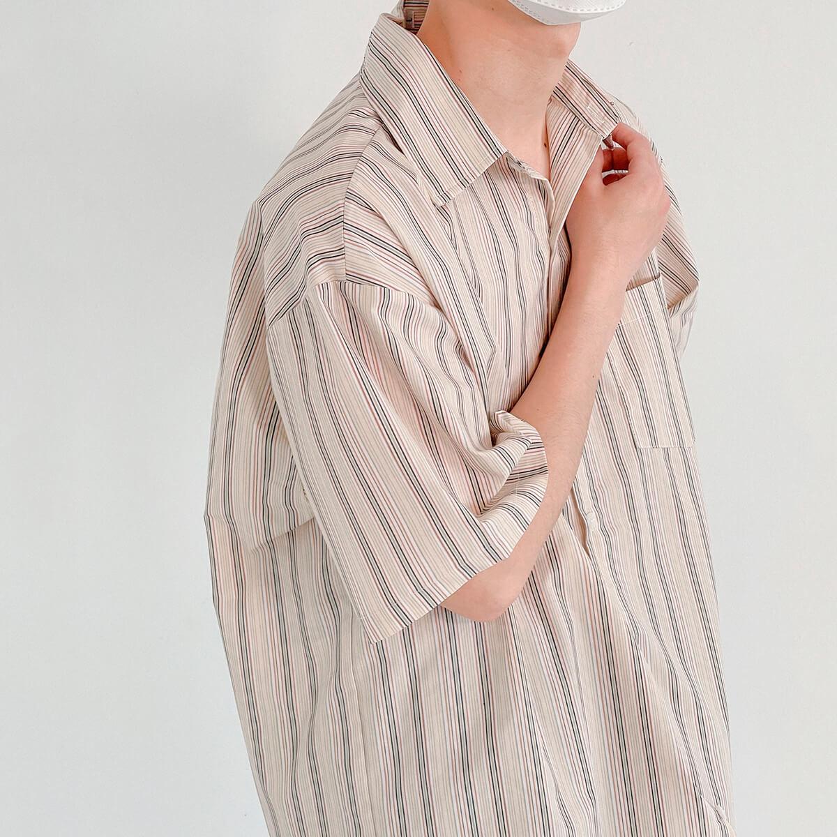Рубашка DAZO Studio Retro Shirt Vertical Stripes (2)