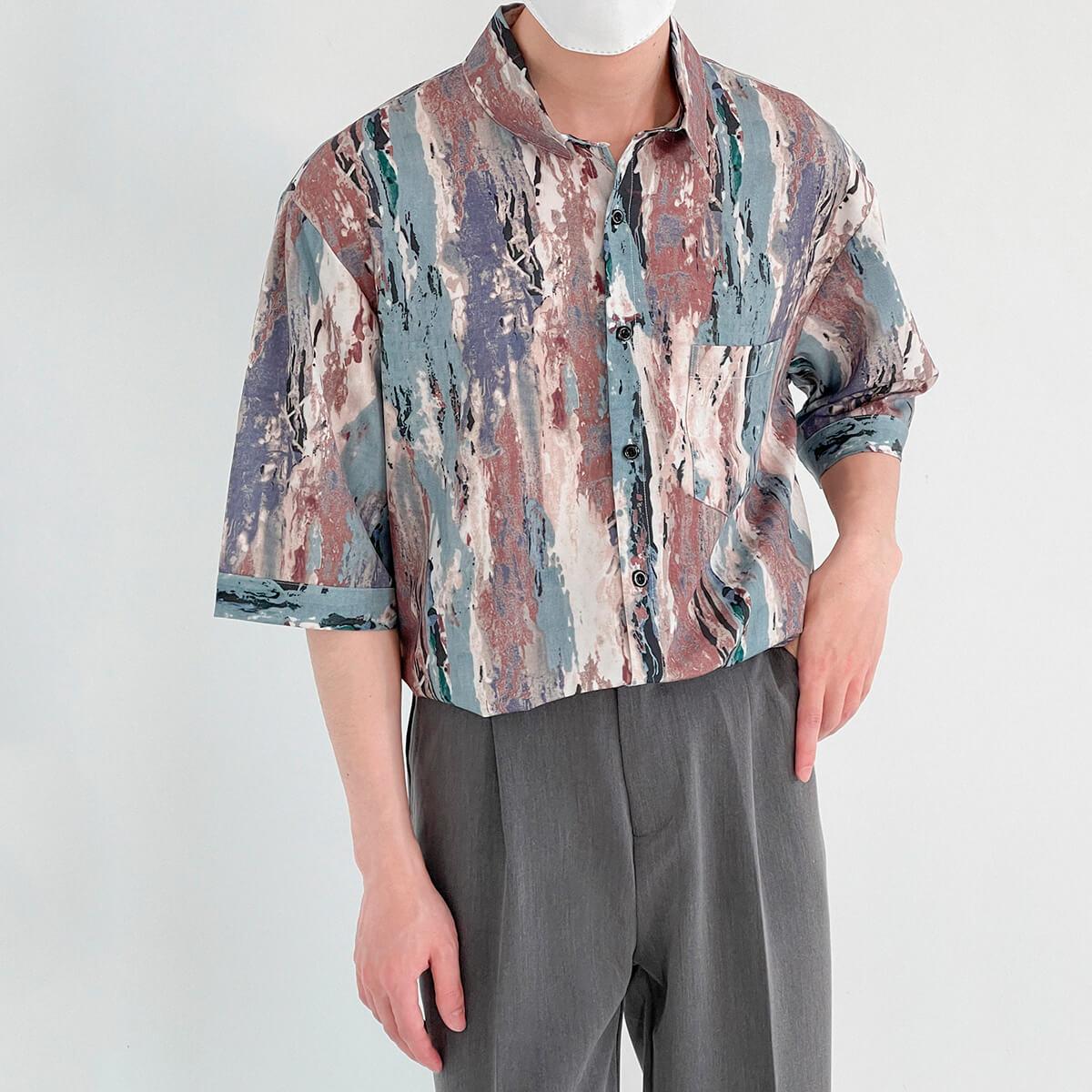 Рубашка DAZO Studio Shirt Colored Bark Pattern (2)