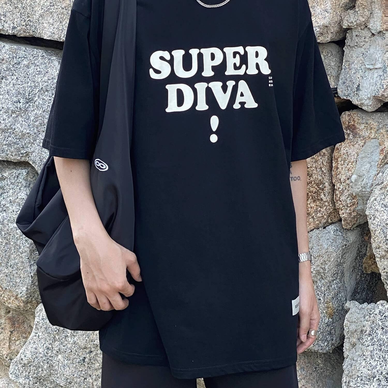 Футболка 19 Studio Super Diva T-shirt Print (2)