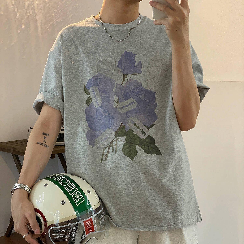 Футболка 19 Studio T-shirt Floral Blades Print (1)
