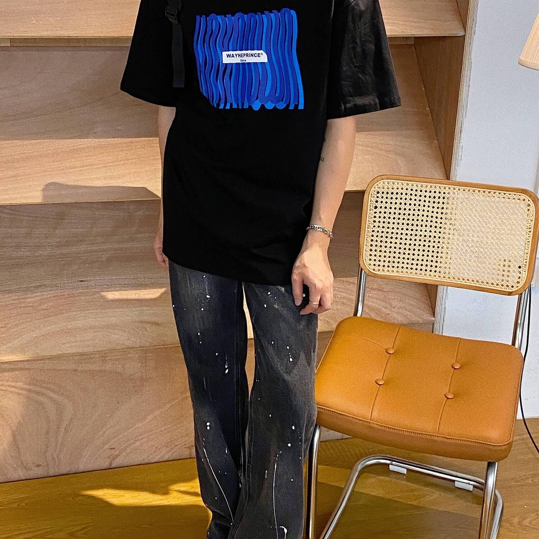 Футболка 19 Studio Wayneprince T-shirt Curved Logo Print (2)