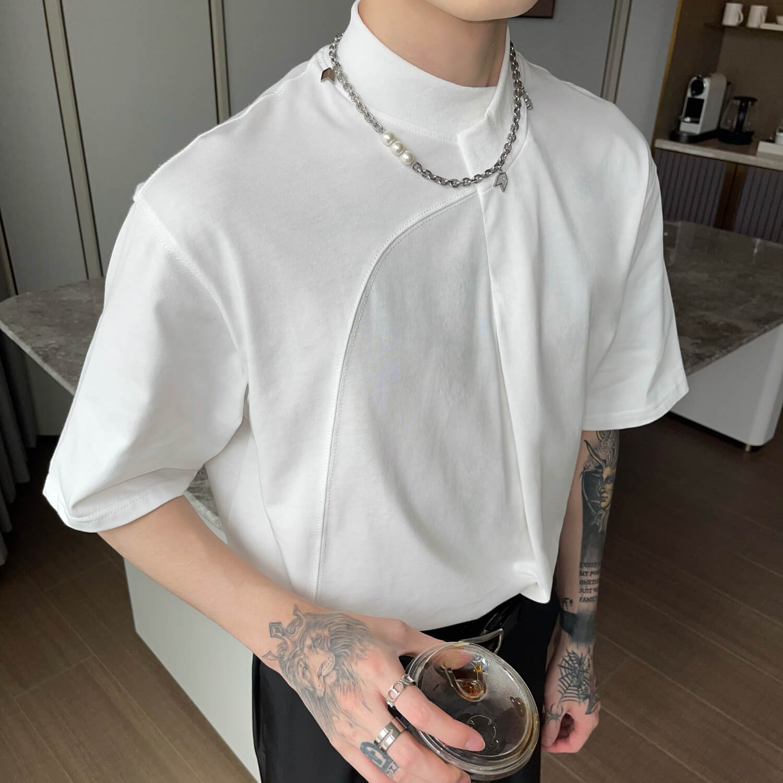 Футболка Cui Layout Studio Minimalist T-shirt Padded Rounded Collar (2)