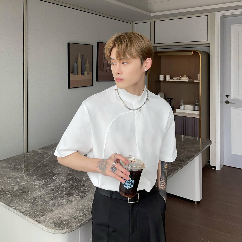 Футболка Cui Layout Studio Minimalist T-shirt Padded Rounded Collar (4)