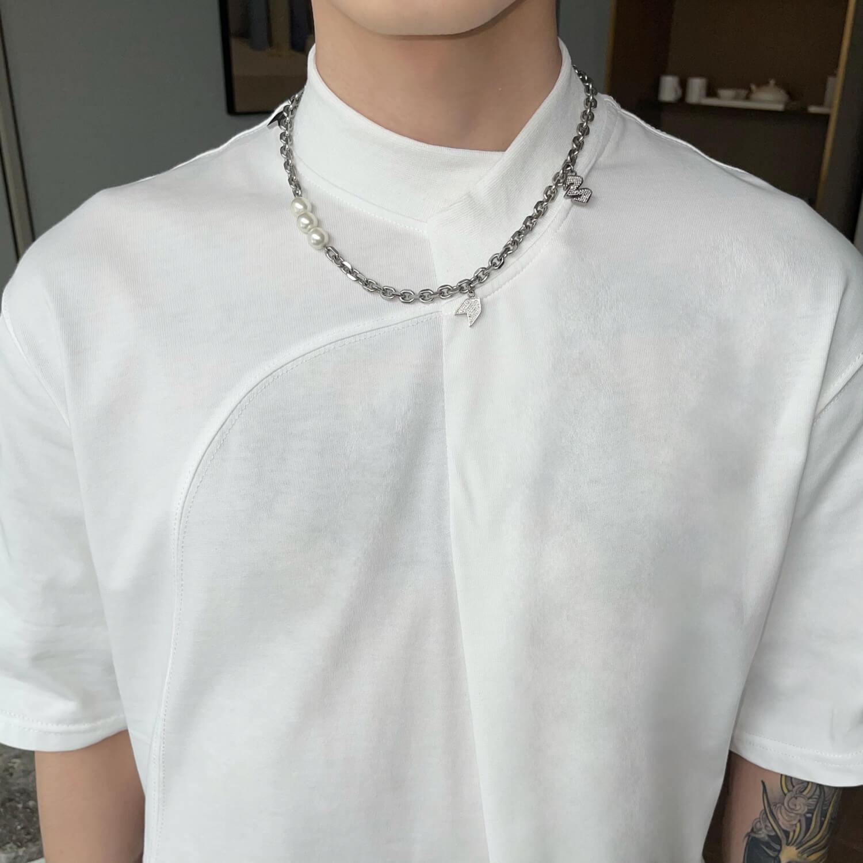 Футболка Cui Layout Studio Minimalist T-shirt Padded Rounded Collar (6)