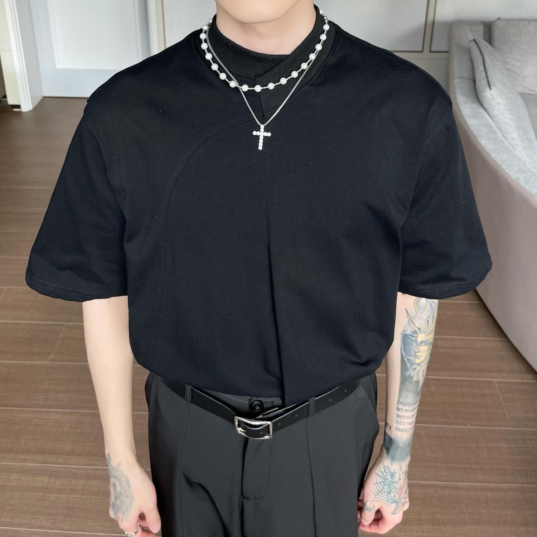 Футболка Cui Layout Studio Minimalist T-shirt Padded Rounded Collar (7)