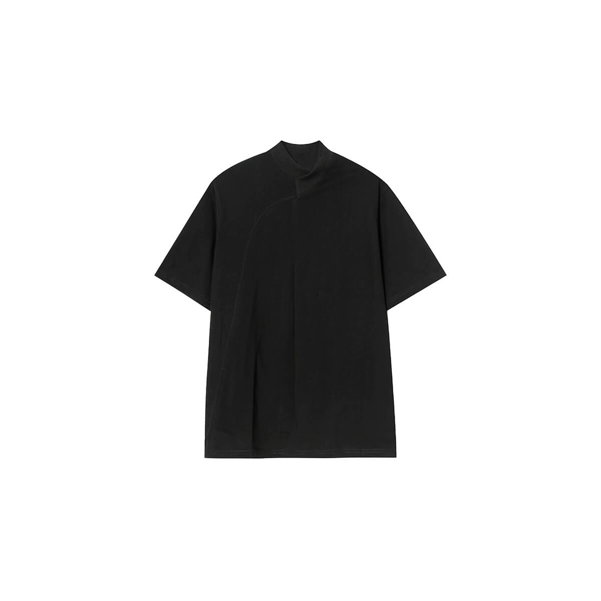 Футболка Cui Layout Studio Minimalist T-shirt Padded Rounded Collar Black