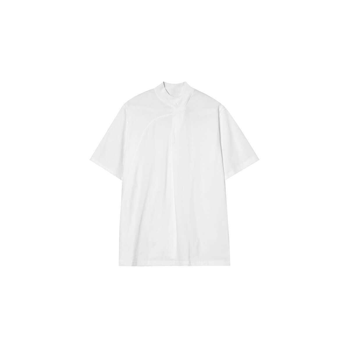 Футболка Cui Layout Studio Minimalist T-shirt Padded Rounded Collar White