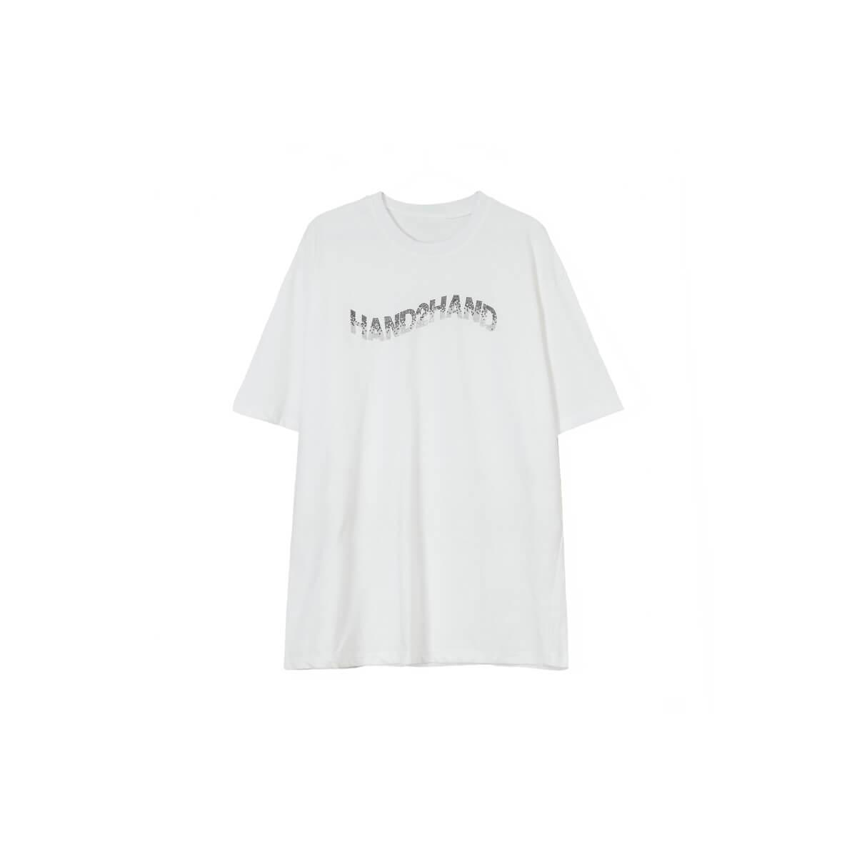 Футболка Cui Layout Studio T-shirt Inlaid Hand2hand Print White
