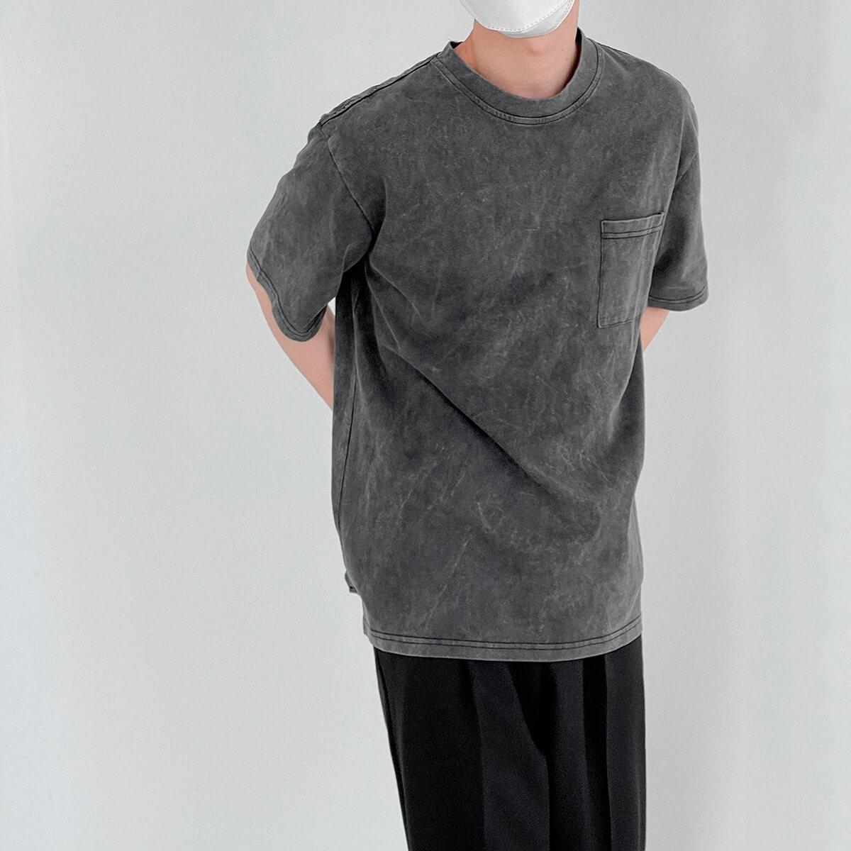 Футболка DAZO Studio Washed Gray T-shirt (1)