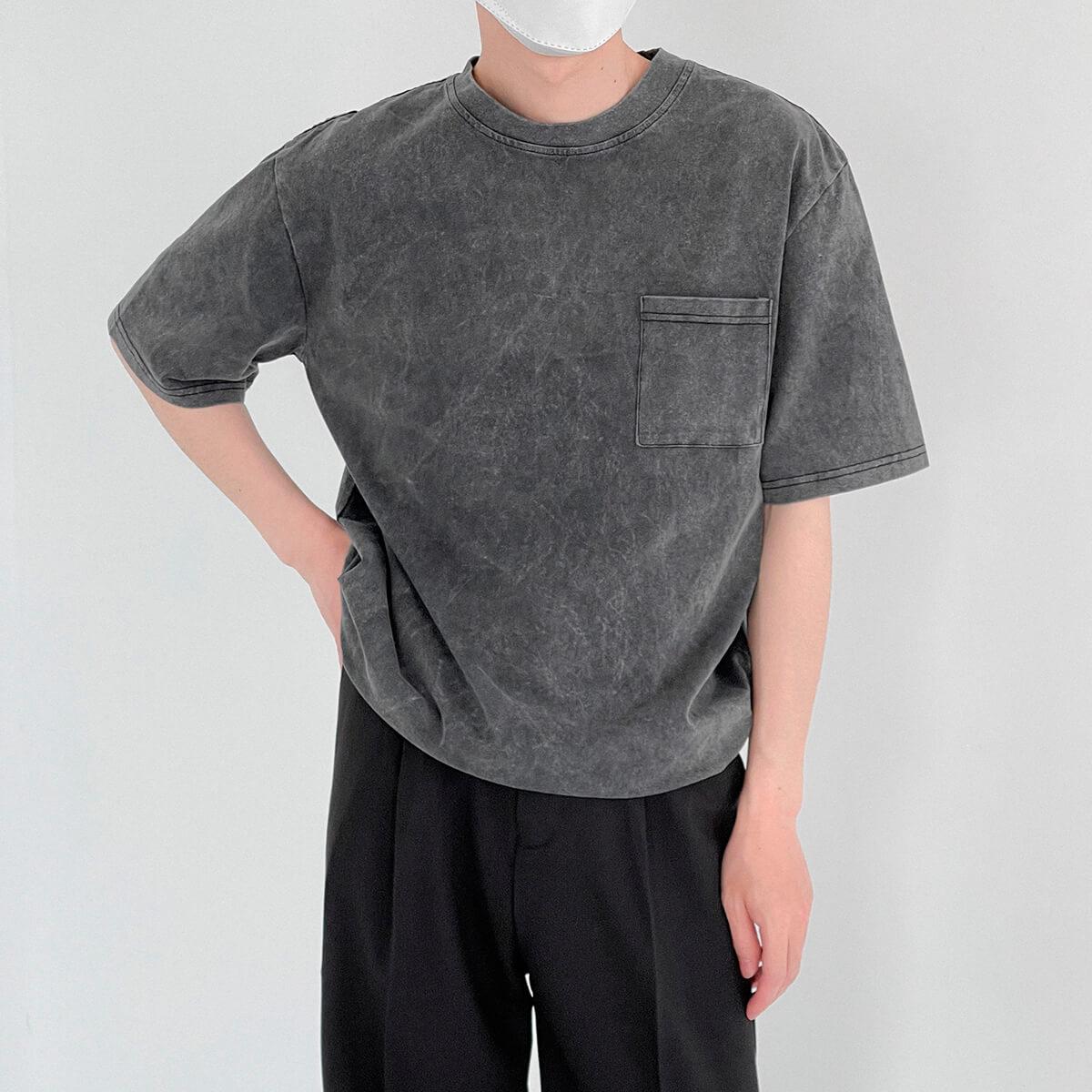 Футболка DAZO Studio Washed Gray T-shirt (2)
