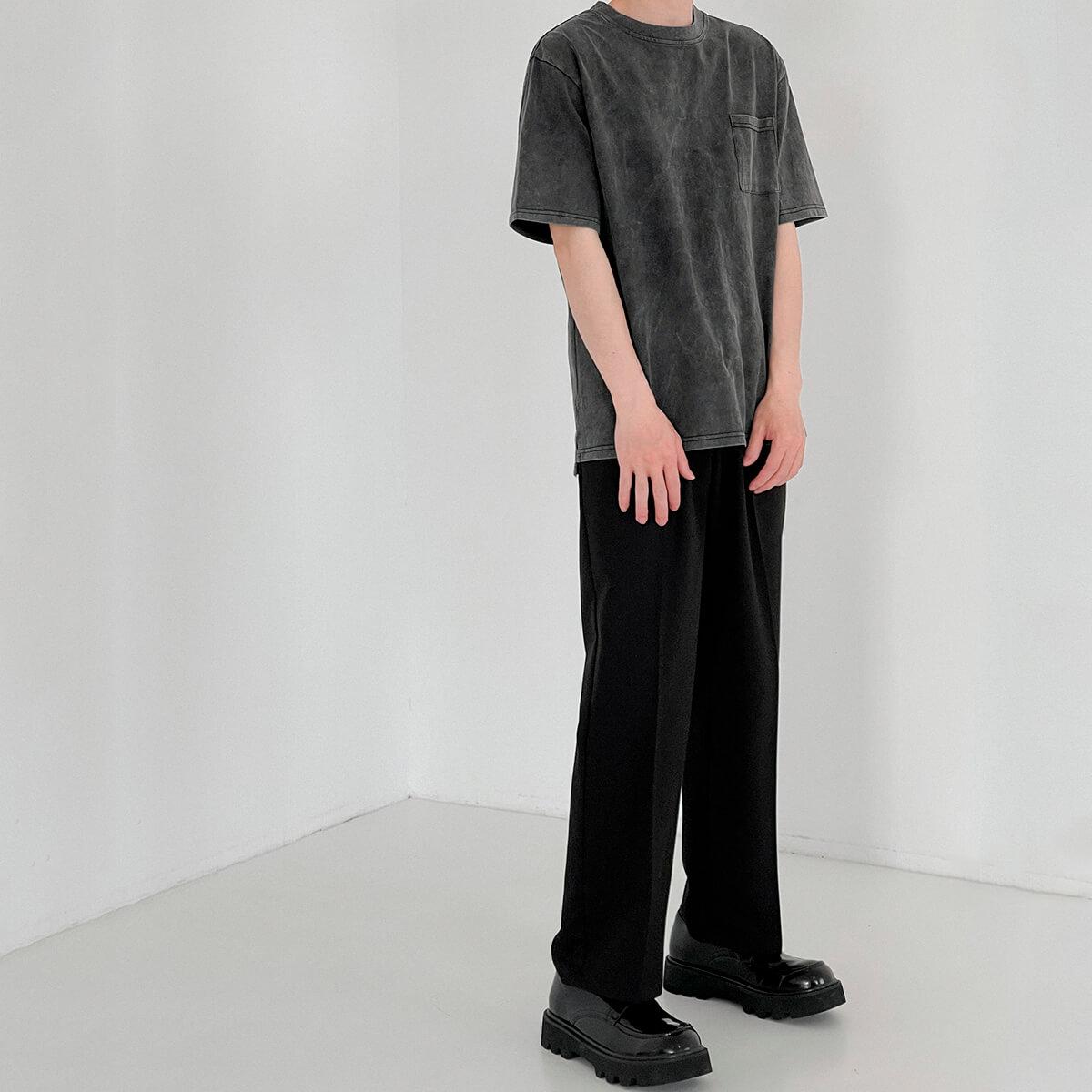 Футболка DAZO Studio Washed Gray T-shirt (5)