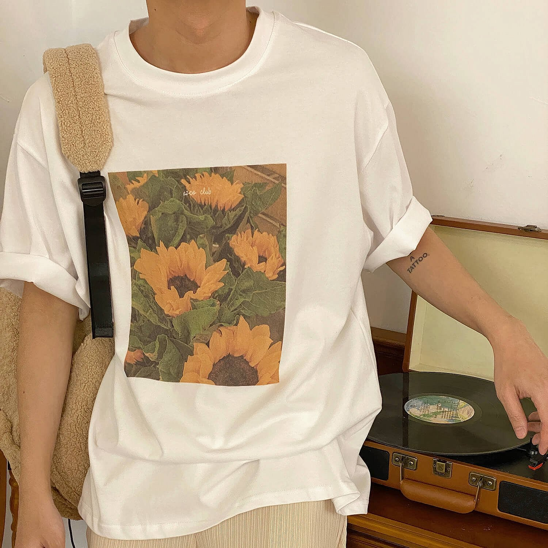 Футболка 19 Studio T-shirt Sunflowers Print (1)