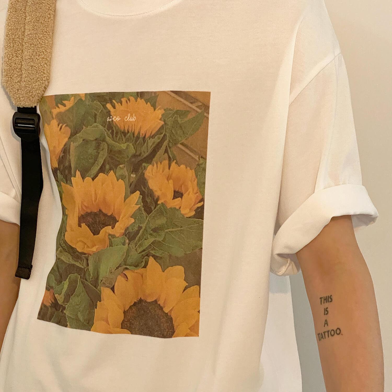 Футболка 19 Studio T-shirt Sunflowers Print (2)