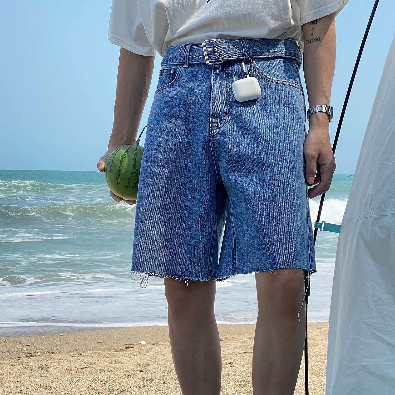 Шорты 19 Studio Ripped Bottom Denim Shorts (1)