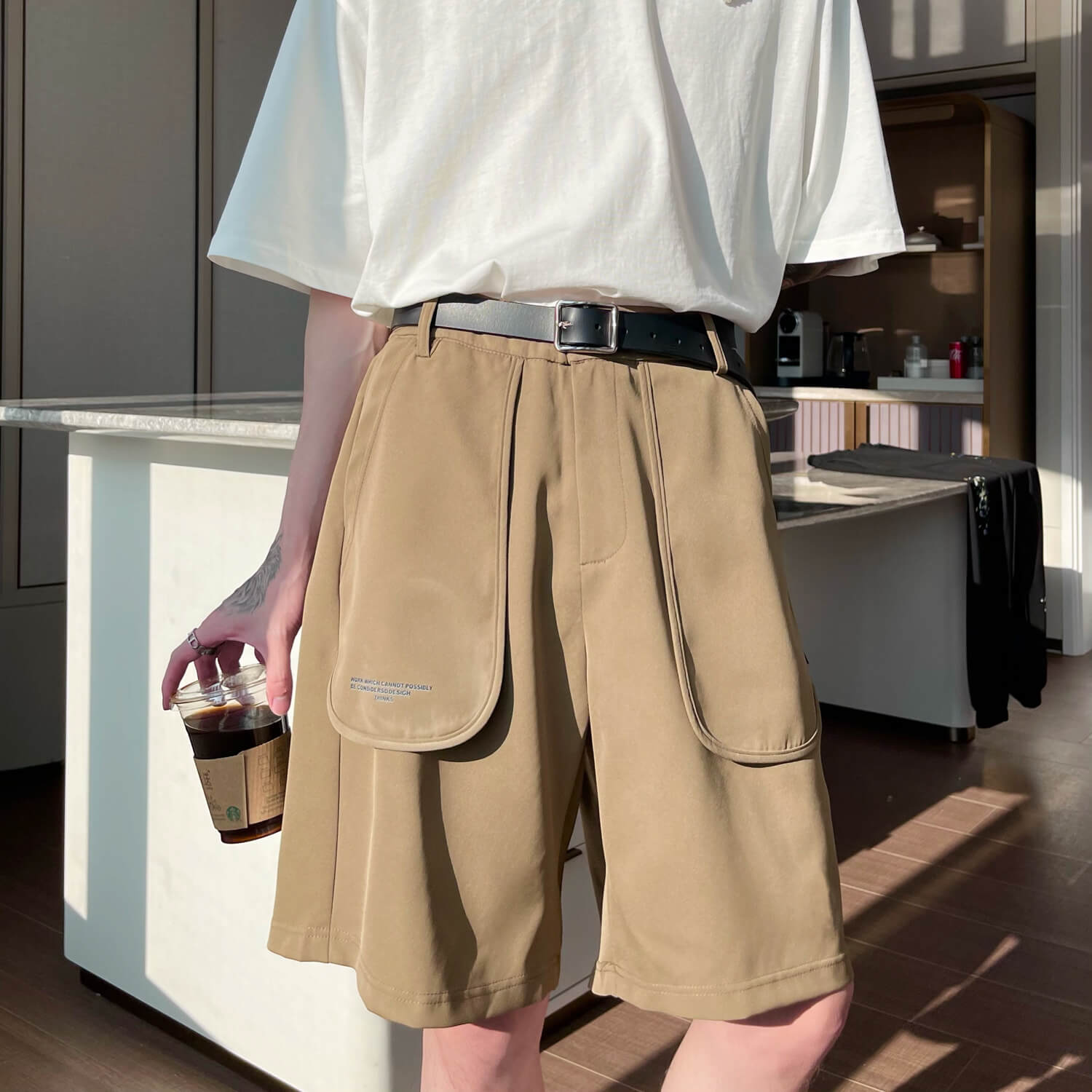 Шорты Cui Layout Studio Cloth Shorts Oversized Rounded Pockets (1)