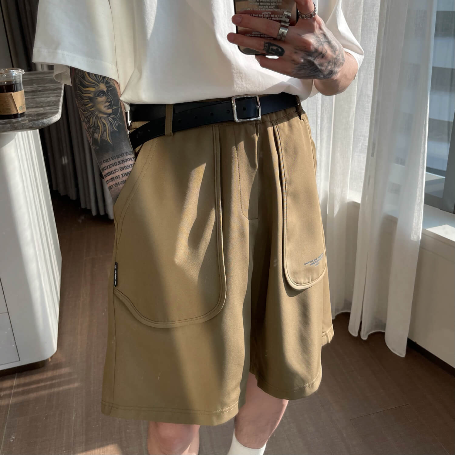 Шорты Cui Layout Studio Cloth Shorts Oversized Rounded Pockets (5)