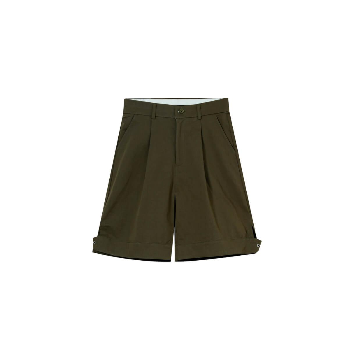 Шорты Cui Layout Studio Wide Leg Shorts Army Green