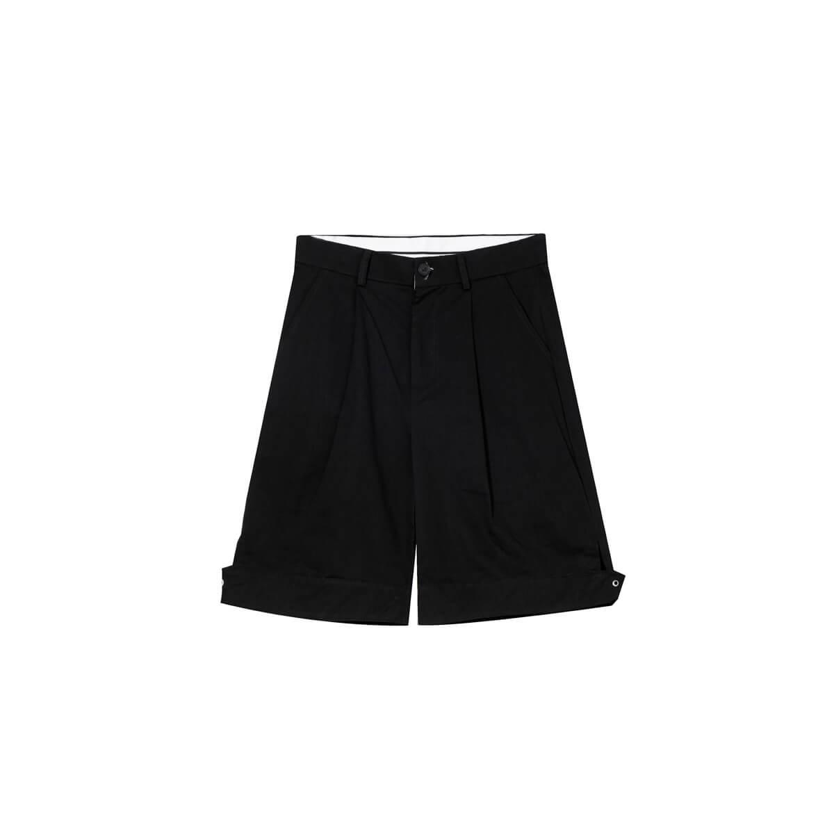 Шорты Cui Layout Studio Wide Leg Shorts Black