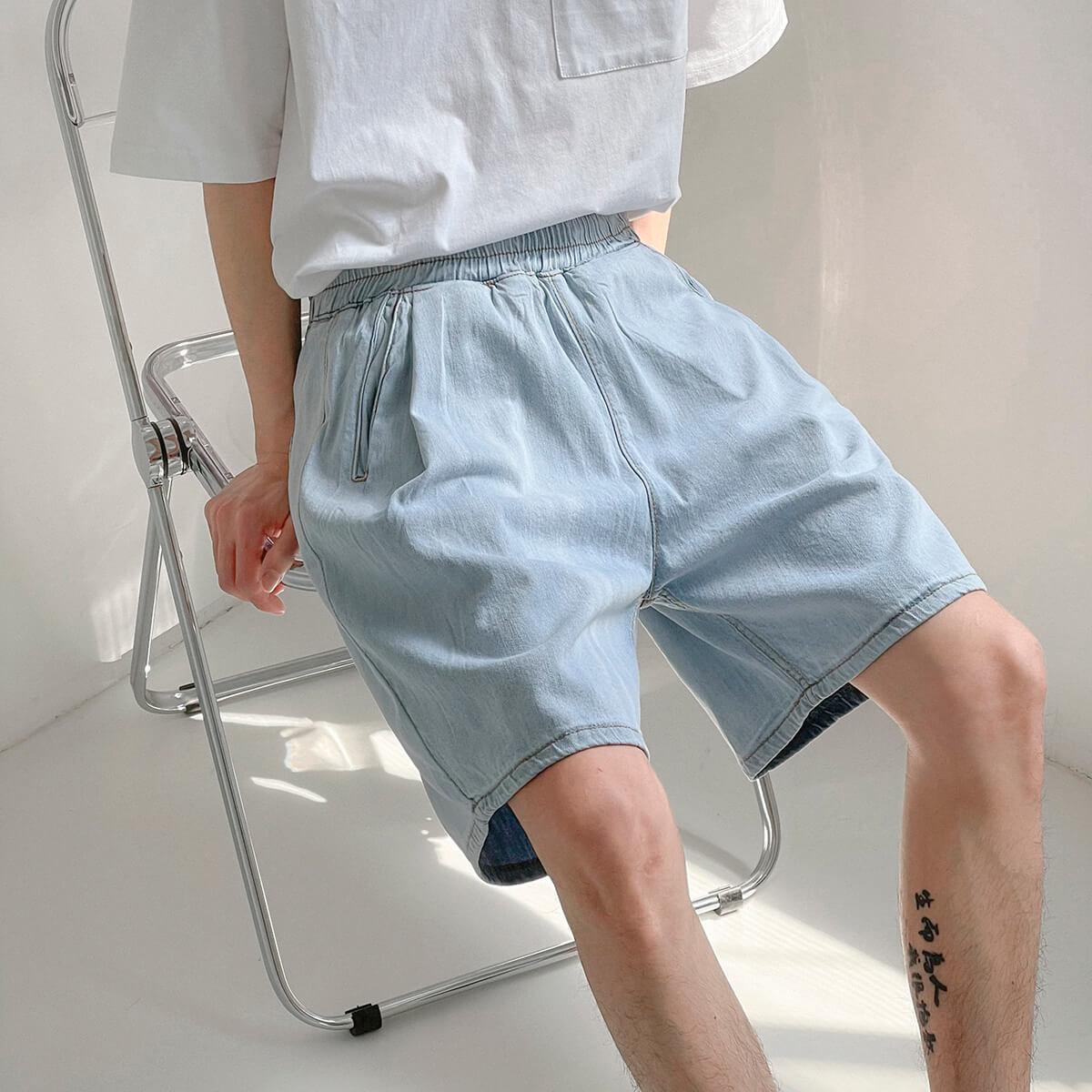 Шорты DAZO Studio Thin Elastic Denim Shorts (1)