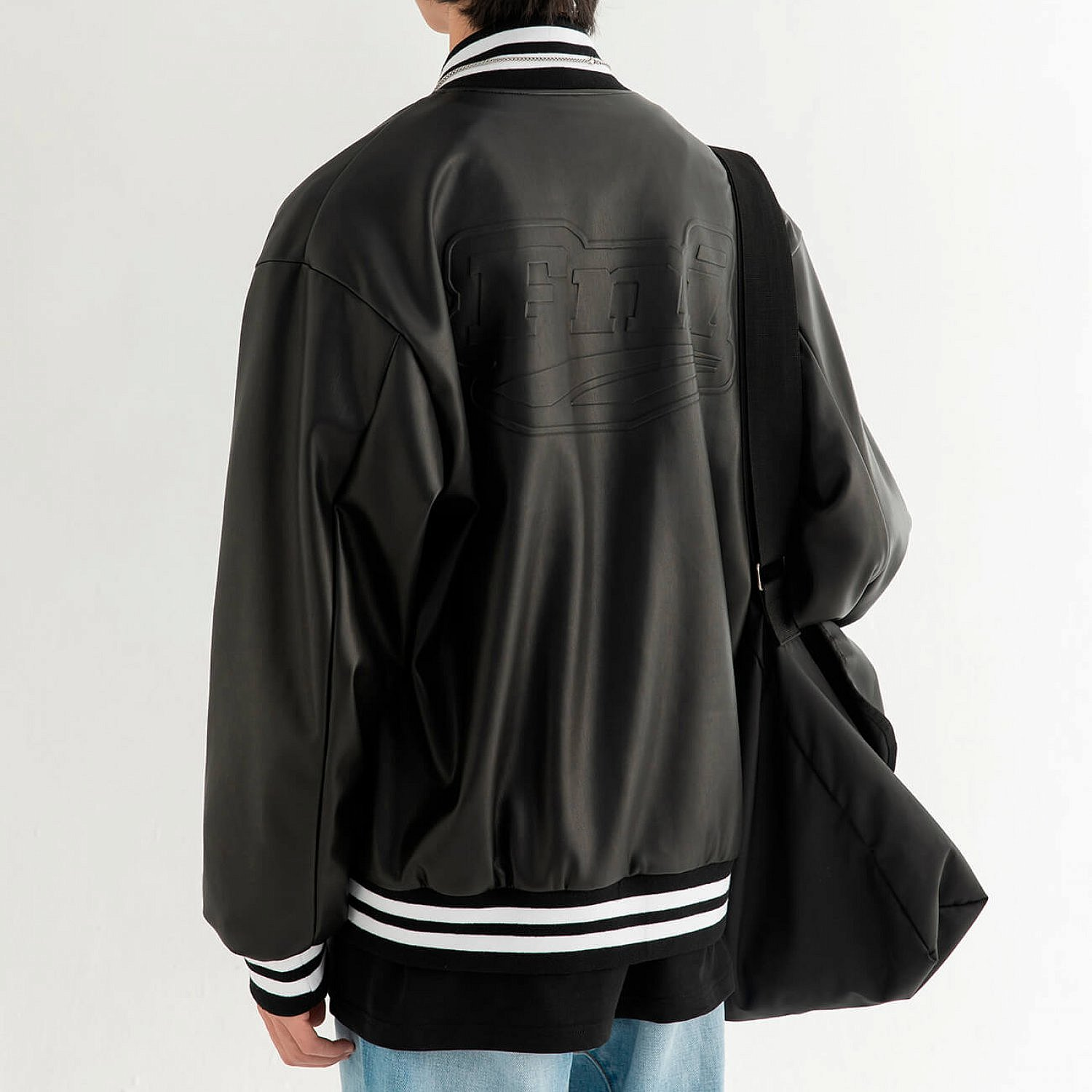 Бомбер DL Studio Faux Leather Bomber (2)