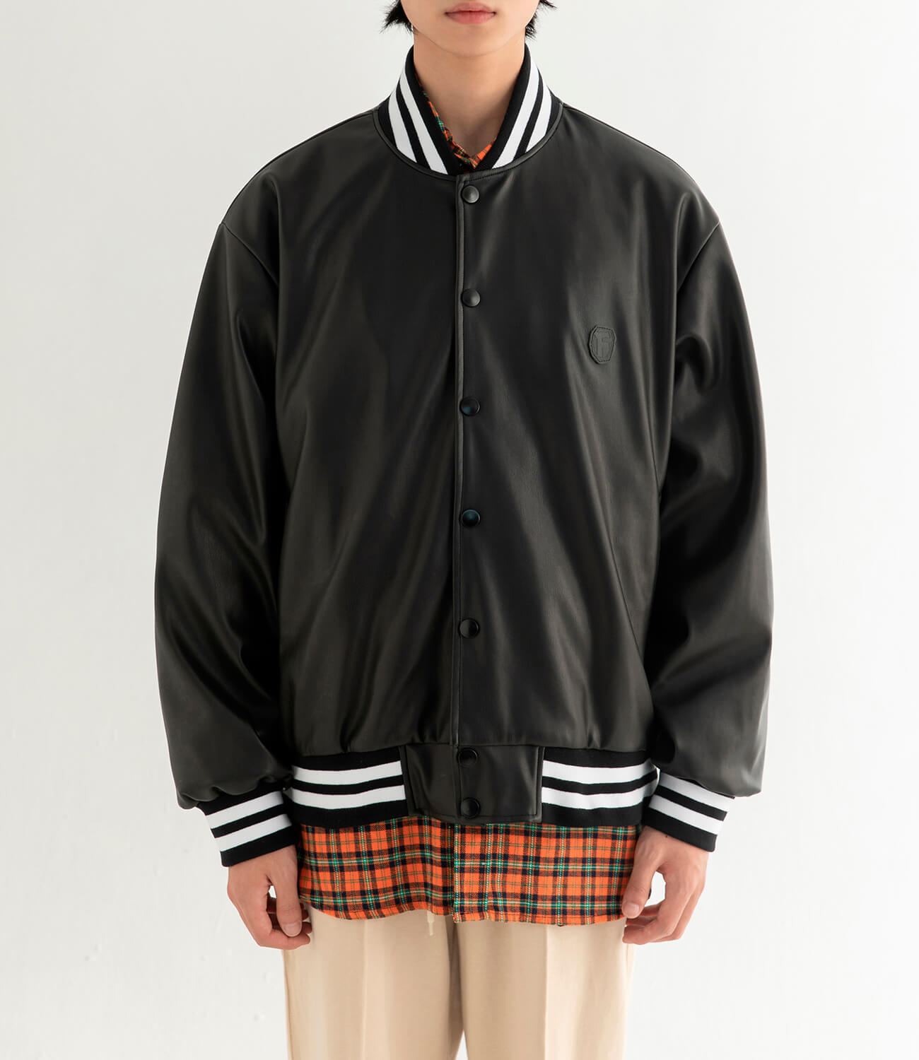 Бомбер DL Studio Faux Leather Bomber (4)