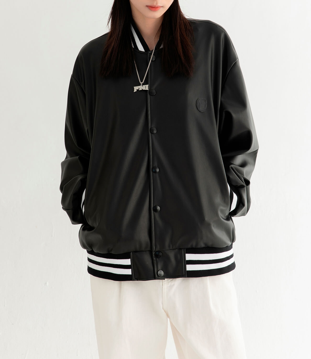 Бомбер DL Studio Faux Leather Bomber (6)