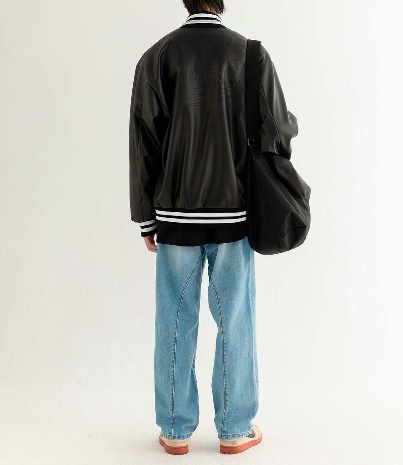 Бомбер DL Studio Faux Leather Bomber (7)