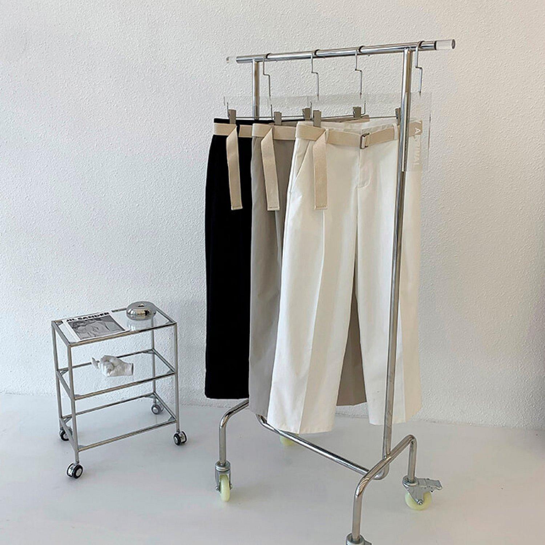 Брюки Attitude Studio Wide Leg Pants With Belt (1)