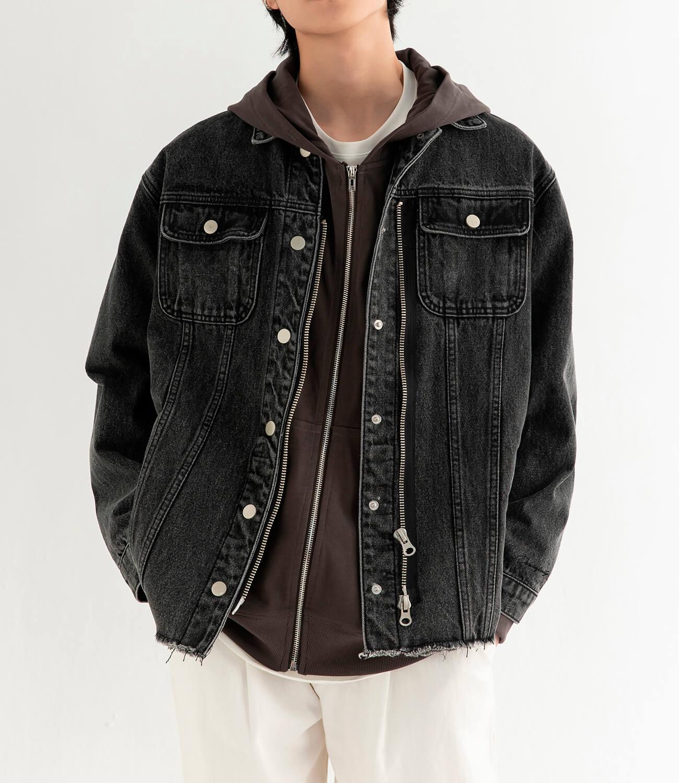 Джинсовая куртка DL Studio Denim Zipper Jacket (2)