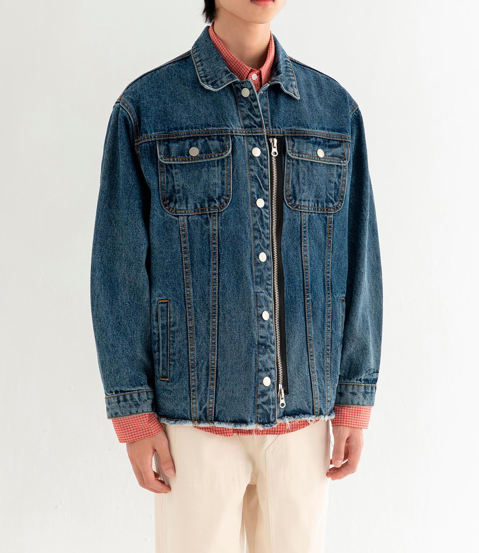 Джинсовая куртка DL Studio Denim Zipper Jacket (7)
