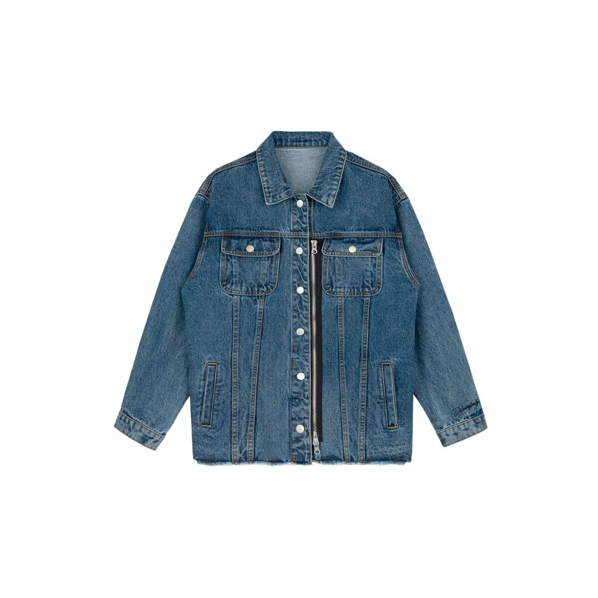 Джинсовая куртка DL Studio Denim Zipper Jacket Blue