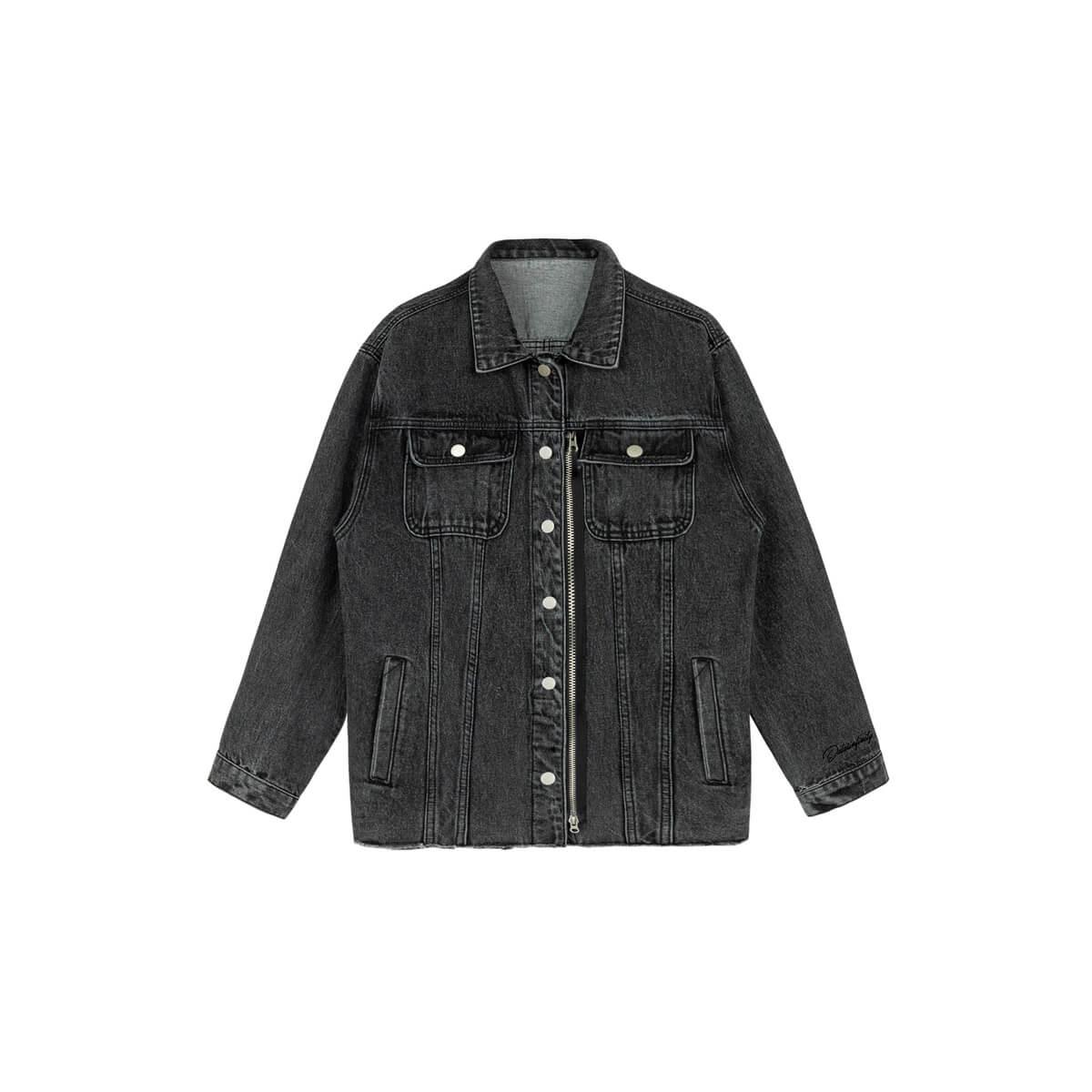 Джинсовая куртка DL Studio Denim Zipper Jacket Dark Gray