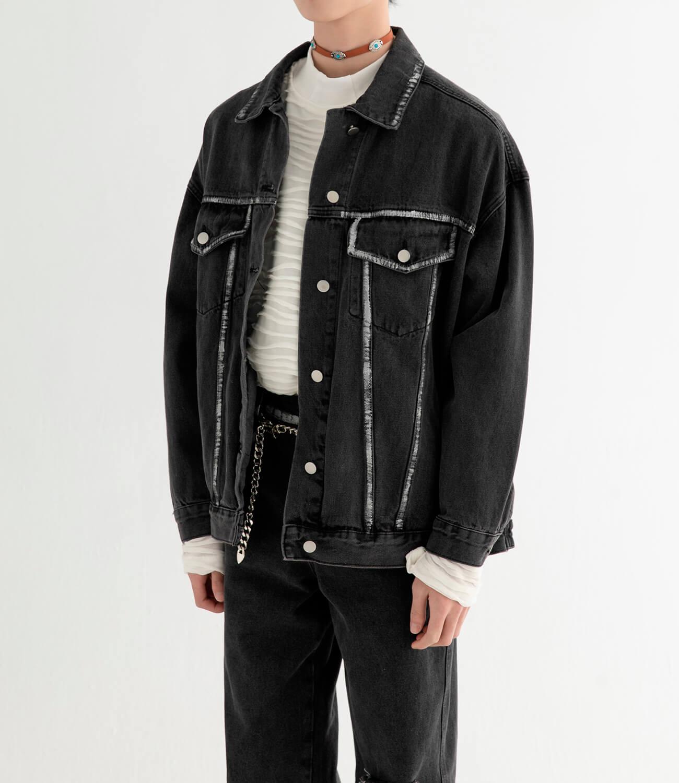Джинсовая куртка DL Studio Rough Denim Jacket (1)