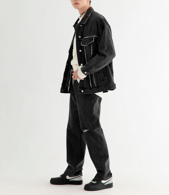 Джинсовая куртка DL Studio Rough Denim Jacket (3)