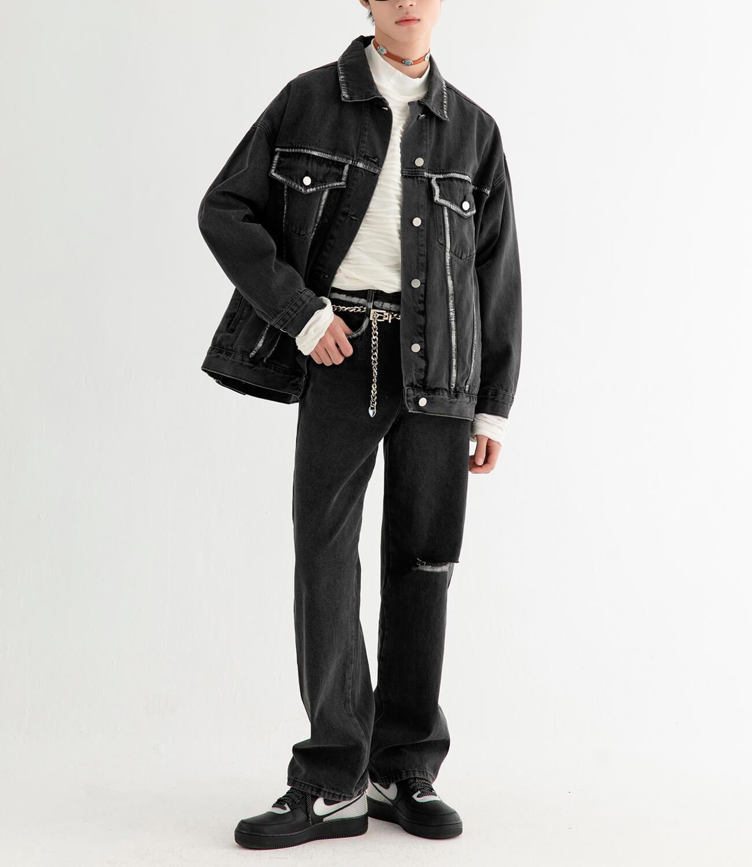 Джинсовая куртка DL Studio Rough Denim Jacket (4)