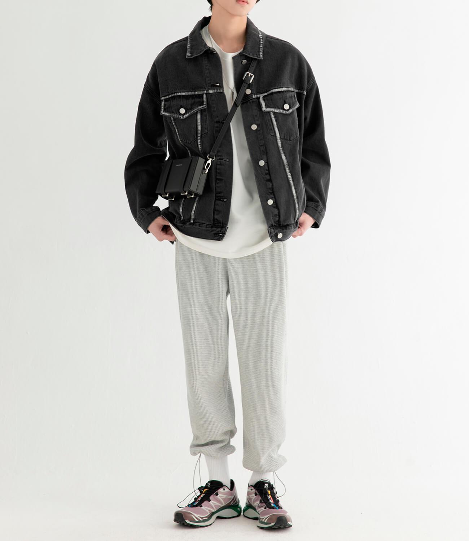 Джинсовая куртка DL Studio Rough Denim Jacket (5)