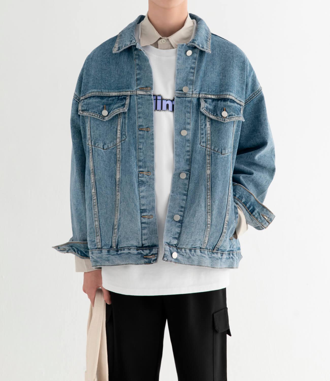 Джинсовая куртка DL Studio Rough Denim Jacket (8)