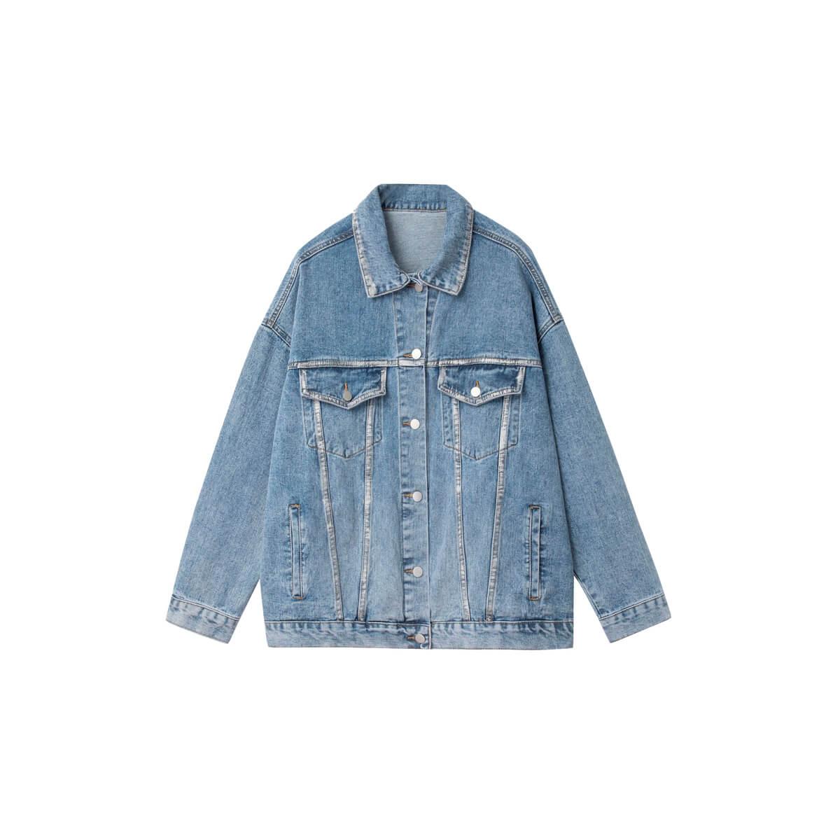 Джинсовая куртка DL Studio Rough Denim Jacket Blue