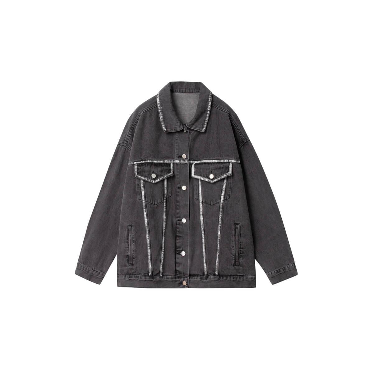 Джинсовая куртка DL Studio Rough Denim Jacket Dark Gray