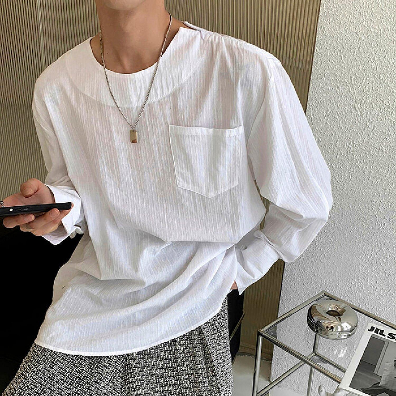 Лонгслив Attitude Studio Zipper Shoulder Slim Long Sleeve (1)