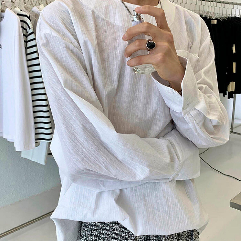 Лонгслив Attitude Studio Zipper Shoulder Slim Long Sleeve (2)