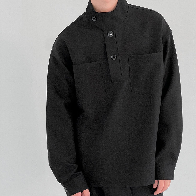 Лонгслив DAZO Studio Long Sleeve With Stand Collar And Elements (1)