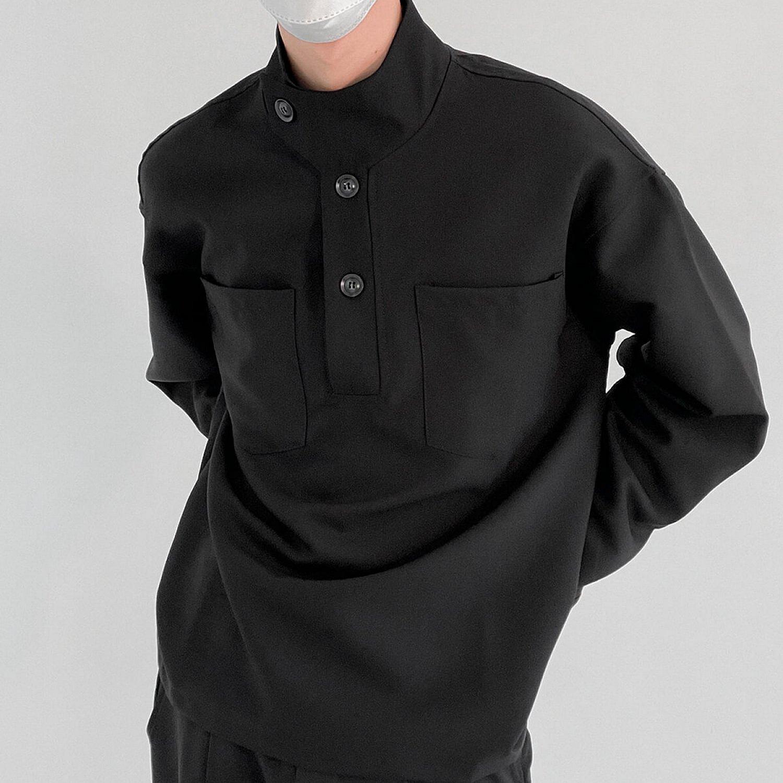 Лонгслив DAZO Studio Long Sleeve With Stand Collar And Elements (2)