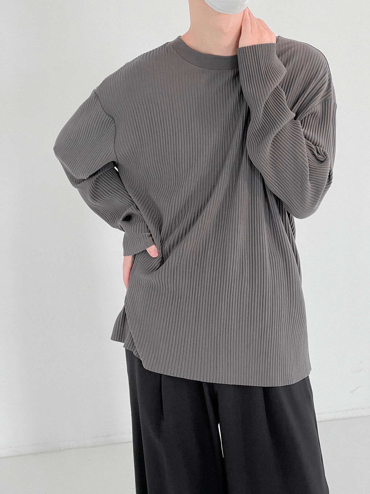 Лонгслив DAZO Studio Pleated Basic Long Sleeve (1)