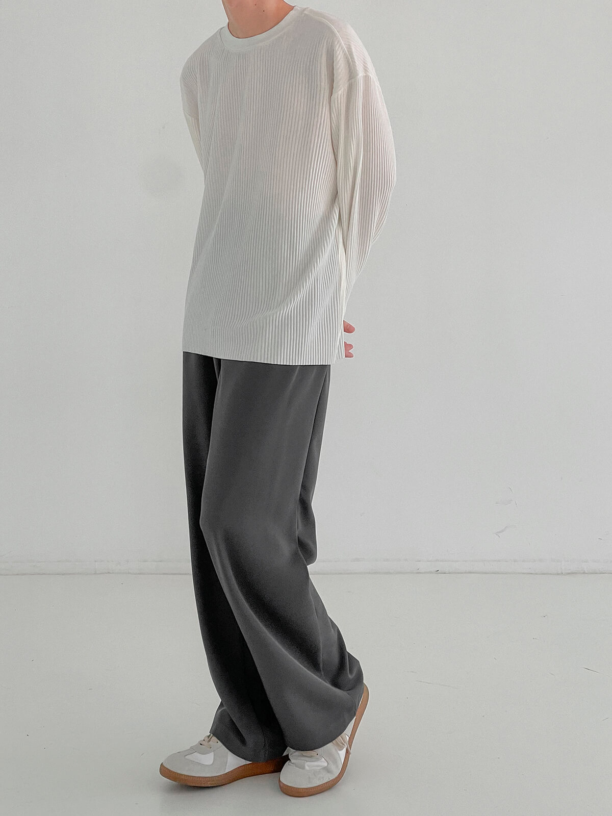 Лонгслив DAZO Studio Pleated Basic Long Sleeve (10)